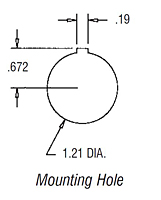 Mounting Hole Dimensional Drawing