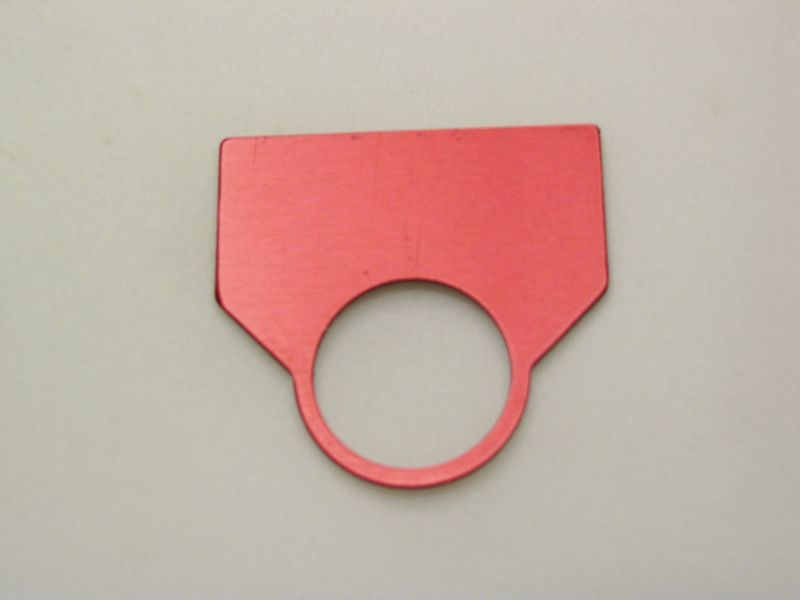 Mount PLIOT Light OR Operators Clear RED OR Black Anodized Aluminum REES 09009001 Legend Plates