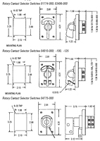 Rotary Contact Selector Switches dimensional